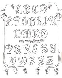 broderi bogstaver skabelon